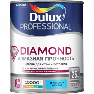 Dulux Trade DIAMOND MATT bs BW  1 л. краска матовая 5183568